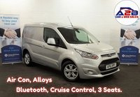 2016 FORD TRANSIT CONNECT 1.6 TDCi LIMITED 115 BHP in SIlver with Air Conditioning, Cruise Control, Bluetooth, Alloy Wheels, Rear Parking Sensors and much more £8980.00