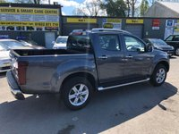 USED 2019 19 ISUZU D-MAX 1.9 UTAH DCB 4 DOOR AUTO 161 BHP IN SPINAL GREY METALLIC WITH LEATHER AND SAT NAV .(REGISTER DEMONSTRATOR) APPROVED CARS ARE PLEASED TO OFFER THIS ISUZU D-MAX 1.9 UTAH DOUBLE CAB 4 DOOR AUTO 161 BHP IN SPINAL GREY METALLIC WITH ON 500 MILES ON THE CLOCK. THIS VEHICLE HAS GOT A GREAT SPEC SUCH AS BLUETOOTH, FULL LEATHER AND HEATED SEATS, APPLE CAR PLAY, FOLD IN MIRRORS AND MUCH MORE. THIS IS A PERFECT MIXTURE OF A LIFESTYLE TRUCK AND A WORKHORSE A VEHICLE THAT CAN DO BOTH, IN A BEAUTIFUL CONDITION WITH ON DEMONSTRATOR MILES ON THE CLOCK. DO NOT MISS OUR PLEASE CALL ON 01622871555
