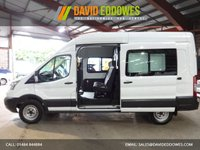 """USED 2015 15 FORD TRANSIT 2.2 125PS T350 LWB L3 H3 7 SEAT DOUBLE CAB / CREW CAB  VAN """"YOU'RE IN SAFE HANDS"""" - AA DEALER PROMISE"""