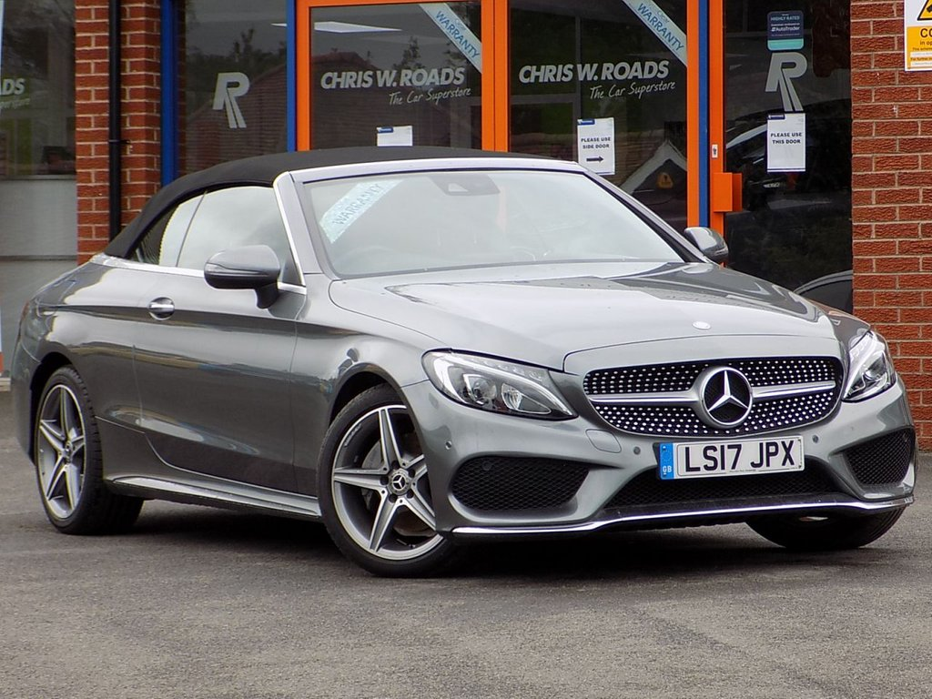 USED 2017 17 MERCEDES-BENZ C CLASS C 220d AMG Line 2dr Auto Convertible ** Sat Nav + Leather + Airscarf **