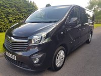 USED 2015 64 VAUXHALL VIVARO 1.6 2900 L2H1 CDTI P/V SPORTIVE 1d 120 BHP Sportive, LWB in Metallic Black. Great looking van with a superb specification.