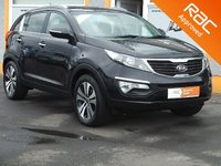 USED 2011 11 KIA SPORTAGE 2.0 FIRST EDITION 5d 160 BHP Black Leather, Heated Seats, Bluetooth, 6 Service Stamps