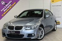 USED 2011 02 BMW 3 SERIES 3.0 325D M SPORT 2d AUTO 202 BHP SAT NAV, HEATED LEATHER, PARK SENSORS, MEMORY SEATS, FULL SERVICE HISTORY