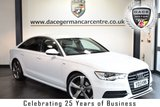 USED 2013 13 AUDI A6 SALOON 2.0 TDI BLACK EDITION 4DR 175 BHP full audi service history  FINISHED IN STUNNING IBIS WHITE WITH FULL BLACK LEATHER INTERIOR + FULL SERVICE HISTORY + SATELLITE NAVIGATION + HEATED SPORT SEATS + BLUETOOTH + DAB RADIO + CRUISE CONTROL + BOSE SPEAKERS + HEATED MIRRORS + PARKING SENSORS + 20 INCH ALLOY WHEELS