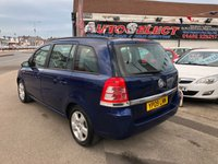 USED 2009 09 VAUXHALL ZAFIRA 1.6 EXCLUSIV 5d 105 BHP *** ONLY 61,000 MILES *** 12 MONTHS WARRANTY ***