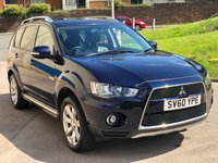 USED 2010 60 MITSUBISHI OUTLANDER 2.2 DI-D JURO 5d 156 BHP FULL YEAR MOT *  PRIVACY GLASS *  FULL LEATHER TRIM *  2 PREVIOUS KEEPERS *  18 INCH ALLOYS *