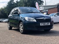 USED 2011 61 SKODA FABIA 1.2 S 6V 5d 60 BHP FULL SERVICE RECORD *  1 PREVIOUS KEEPER *  LONG MOT *  CLIMATE CONTROL *