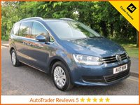 USED 2017 17 VOLKSWAGEN SHARAN 2.0 SE TDI BLUEMOTION TECHNOLOGY DSG 5d AUTO 148 BHP Great Value ULEZ Compliant Automatic Volkswagen Sharan SE with Seven Seats, Climate Control, Cruise Control, Alloy Wheels and Volkswagen Service HistoThis Vehicle is ULEZ Compliant with a EURO 6 Rated Enginery.