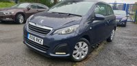 USED 2016 16 PEUGEOT 108 1.0 ACTIVE TOP 3d 68 BHP REVCAM+CLEAN CAR+MEDIA+AUX+CD+