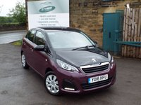 USED 2016 16 PEUGEOT 108 1.0 ACTIVE 5d 68 BHP Zero Rate Road Tax Service History