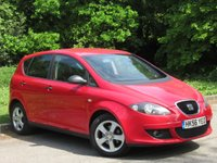USED 2007 56 SEAT ALTEA 1.6 REFERENCE SPORT 5d 101 BHP SERVICE HISTORY, MOT MAY 2020