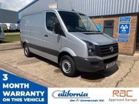 USED 2015 15 VOLKSWAGEN CRAFTER 2.0 CR35 TDI P/V 110 BHP 1 OWNER, LOW MILES, VERY CLEAN.