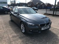 USED 2015 15 BMW 3 SERIES 2.0 320D SPORT 4d 181 BHP SERVICE HISTORY-1 OWNER-£30 TAX-DIESEL-NAV-BLUETOOTH-PARKING SENSORS