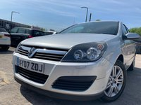 USED 2007 07 VAUXHALL ASTRA 1.6 ACTIVE 16V TWINPORT 5d 100 BHP 2KEY+CLEANCAR+CD PLAYER+MEDIA+