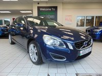 USED 2012 12 VOLVO V60 2.0 D4 SE LUX NAV 5d 161 BHP SATELLITE NAVIGATION + FULL LEATHER TRIM + HEATED FRONT SEATS + DIGITAL RADIO + ALLOYS + POWER MEMORY SEATS + ELECTRIC WINDOWS + LOW CAR TAX