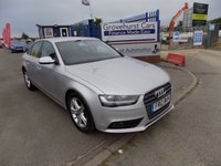 2012 AUDI A4 2.0 TDI SE 4d AUTO 141 BHP £8495.00