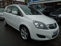 USED 2014 14 VAUXHALL ZAFIRA 1.8 EXCLUSIV 5d 120 BHP 1 OWNER FROM NEW