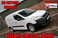 USED 2015 65 PEUGEOT PARTNER 1.6 HDI S L1 850 92 BHP NO DEPOSIT FINANCE + 1 KEEPER + WARRANTED MILES
