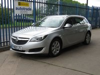 2015 VAUXHALL INSIGNIA 1.6 TECH LINE CDTI ECOFLEX S/S Tourer Sat nav 1/2 Leather Cruise £7500.00