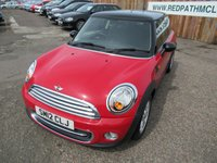 2012 MINI HATCH COOPER 1.6 COOPER 3d 122 BHP £6495.00