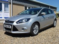 USED 2014 64 FORD FOCUS 1.6 TITANIUM NAVIGATOR TDCI 5d 113 BHP www.suffolkcarcentre.co.uk - Located at Reydon