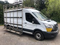 USED 2014 64 FORD TRANSIT T350 2.2TDCI 124 BHP LWB HIGH ROOF PANEL VAN GLASS CARRIER SIDE FRAIL +1 OWNER+GLASS CARRIER/THRAIL+