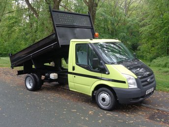 2013 FORD TRANSIT 2.2 350 DRW 1d 99 BHP TIPPER SINGLE CAB ONLY 34 K (FINANCE AVAILABLE) £11495.00