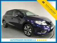 USED 2016 16 NISSAN PULSAR 1.2 N-TEC DIG-T XTRONIC 5d AUTO 115 BHP FULL NISSAN HISTORY - 1 OWNER - SAT NAV - REAR CAMERA - AIR CON - BLUETOOTH - DAB RADIO - AUX / USB