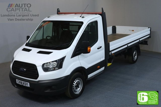 2018 18 FORD TRANSIT 2.0 350 L4 EXTRA LWB 129 BHP EURO 6 DROPSIDE LORRY MANUFACTURER WARRANTY UNTIL 27/03/2021