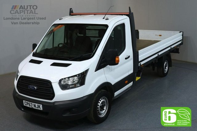 2018 67 FORD TRANSIT 2.0 350 L4 129 BHP EXTRA LWB EURO 6 VAN DROPSIDE LORRY REAR BED LENGTH 13 FOOT 10 INCH