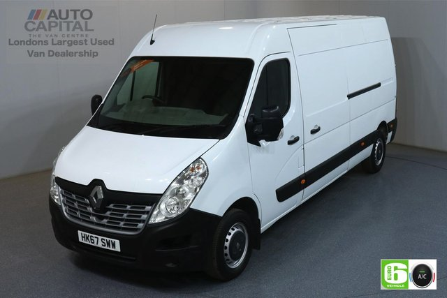 2017 67 RENAULT MASTER 2.3 LM35 BUSINESS DCI L3H2 LWB 130 BHP EURO 6 AIR CON MANUFACTURER WARRANTY UNTIL 26/12/2020