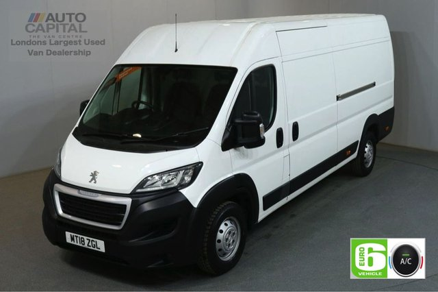 2018 18 PEUGEOT BOXER 2.0 BLUE HDI 435 L4H2 PROFESSIONAL130 BHP EXTRA LWB H/ROOF EURO 6 AIR CON SAT NAV BLUETOOTH AND CRUISE