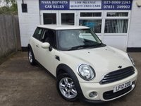 2012 MINI HATCH ONE 1.6 ONE 3d AUTO 98 BHP £7495.00