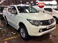 USED 2017 17 MITSUBISHI L200 2.4 DI-D 4WD WARRIOR DOUBLE CAB 178 BHP PICK UP + HARDTOP HARDTOP + BALANCE OF 5 YR WARRANTY + SAT NAV + LEATHER +