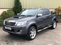 USED 2016 16 TOYOTA HI-LUX 3.0 INVINCIBLE 4X4 D-4D DCB 1d 169 BHP REVERSE CAMERA, 20' ALLOYS, LINER, TOW BAR