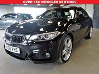 USED 2016 66 BMW 2 SERIES 2.0 220D XDRIVE M SPORT 2d 188 BHP PCP/FINANCE AVAILABLE