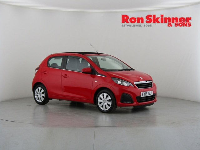 View our 2016 16 PEUGEOT 108 1.0 ACTIVE TOP 5d 68 BHP