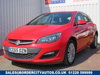 USED 2015 65 VAUXHALL ASTRA 1.4 EXCITE 5d 98 BHP LOW MILEAGE