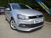 USED 2014 14 VOLKSWAGEN POLO 1.2 R-LINE STYLE AC 3d 60 BHP