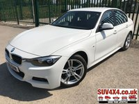 USED 2015 15 BMW 3 SERIES 2.0 320I M SPORT 4d 181 BHP BODYKIT SAT NAV LEATHER ONE OWNER M-SPORT BODYKIT. SATELLITE NAVIGATION. STUNNING ALPINE WHITE WITH FULL BLACK LEATHER SPORTS TRIM. CRUISE CONTROL. 18 INCH M-SPORT ALLOYS. COLOUR CODED TRIMS. PARKING SENSORS. BLUETOOTH PREP. DUAL CLIMATE CONTROL INCLUDING AIR CON. R/CD PLAYER. 6 SPEED MANUAL. MFSW. MOT 05/20. ONE OWNER FROM NEW. SERVICE HISTORY. SUV & 4X4 CAR CENTRE LS23 7FR. TEL 01937 849492. OPTION 2