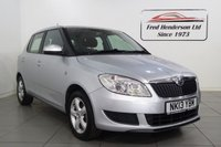 USED 2013 13 SKODA FABIA 1.2 SE 12V 5d 68 BHP Here we have an immaculate example of the much loved Skoda Fabia 1.2 SE. Presented in stunning silver metallic  with contrasting black cloth interior. Low mileage  example in fantastic condition backed with FULL SERVICE HISTORY and 12 months MOT. Great spec, A/C SE Alloys, MP3 player, trip computer,. Excellent fuel economy and running cost. Truly is a superb example.