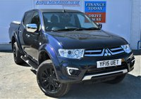 USED 2015 15 MITSUBISHI L200 2.5 DI-D 4X4 BARBARIAN BLACK EDITION 5 Seat Double Cab Pickup AUTO Stunning Dark Blue Metallic and Amazing Black Alloys with Low Mileage and Great High Spec inc Sat Nav Heated Leather Seats Bluetooth Mobile Handsfree DAB Radio Rear Camera Full Mitsubishi Service History and Ready to Drive Away Today ** LOW MILEAGE FOR AGE**