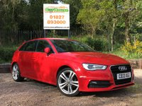USED 2013 13 AUDI A3 2.0 TDI S LINE 5dr Sat Nav, Heated Leather, ASH