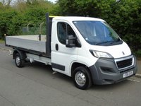 USED 2016 16 PEUGEOT BOXER 2.2 HDI 335 130 BHP 3.5T L3 LONG WHEEL DROPSIDE TRUCK +1 OWNER+ FACE LIFT+