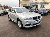 USED 2013 13 BMW X3 2.0 20d M Sport xDrive 5dr PAN ROOF/SAT NAV
