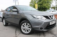USED 2014 14 NISSAN QASHQAI 1.5 DCI ACENTA SMART VISION 5d 108 BHP BLUETOOTH - FRONT AND REAR PARKING SENSORS -MASSIVE MPG - FREE ROAD TAX - ALLOY WHEELS - MUST BE SEEN