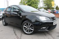 USED 2015 15 SEAT IBIZA 1.2 TSI I-TECH 5d 104 BHP HALF LEATHER INTERIOR - 16'' ALLOY WHEELS - AUX CONNECTION - £30 ROAD TAX