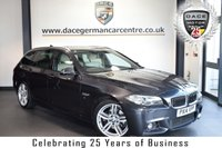 "USED 2014 14 BMW 5 SERIES 2.0 520D M SPORT TOURING 5DR AUTO 181 BHP full bmw service history FINISHED IN STUNNING BRILLIANT METALLIC GREY WITH FULL LEATHER INTERIOR + FULL BMW SERVICE HISTORY + PRO SATELLITE NAVIGATION + BLUETOOTH + HEATED SEATS + HARMAN/KARDON SURROUND SOUND + DAB RADIO + ADAPTIVE HEADLIGHTS + CRUISE CONTROL + PARKING SENSORS + 19"" ALLOY WHEELS"