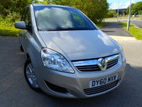 USED 2010 60 VAUXHALL ZAFIRA 1.6 EXCLUSIV 5d 113 BHP ** 7 SEATER, YES ONLY 78K, EXCLUSIVE EDITION, GREAT VALUE **