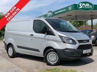 USED 2015 15 FORD TRANSIT CUSTOM 2.2 330 LR P/V 1d 125 BHP 1 Piece Tailgate, Air Con, Heated Seats, Bluetooth Phone Connection.